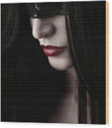Vampire Kiss Wood Print