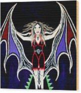 Vampire Lady Of Death Wood Print