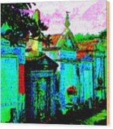 Vampire Tombs New Orleans Wood Print