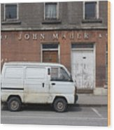 Van And Shop Wood Print