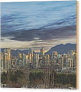 Van City Sunrise Wood Print