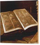 Van Gogh: Bible, 1885 Wood Print