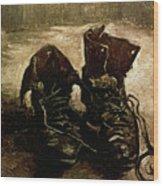 Van Gogh Boots 1886 Wood Print