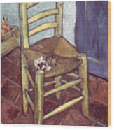 Van Gogh: Chair, 1888-89 Wood Print