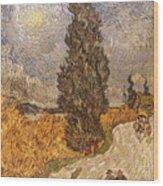Van Gogh: Cypresses, 1889 Wood Print