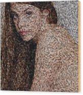 Van Gogh Eyes Wood Print
