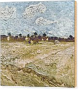 Van Gogh: Fields, 1888 Wood Print