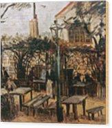 Van Gogh: Guingette, 1886 Wood Print