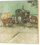 Van Gogh: Gypsies, 1888 Wood Print
