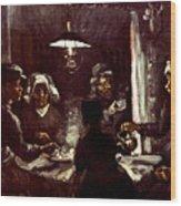 Van Gogh: Meal, 1885 Wood Print by Granger
