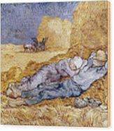Van Gogh: Noon Nap, 1889-90 Wood Print