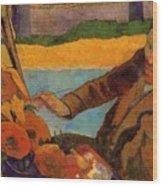 Van Gogh Painting Sunflowers 1888 Wood Print