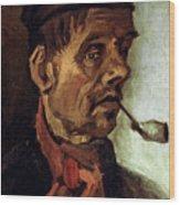 Van Gogh: Peasant, 1884 Wood Print