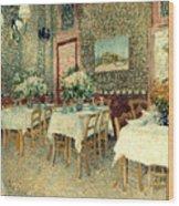 Van Gogh: Restaurant, 1887 Wood Print