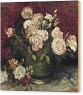 Van Gogh: Roses, 1886 Wood Print