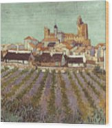 Van Gogh: Saintes-maries Wood Print