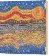 Van Gogh Skies Wood Print
