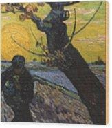 Van Gogh: Sower, 1888 Wood Print