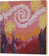 Van Gogh Sunset Wood Print