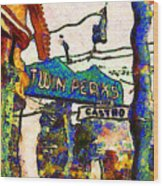 Van Gogh Takes A Wrong Turn And Discovers The Castro In San Francisco . 7d7547 Wood Print