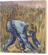 Van Gogh: The Reaper, 1889 Wood Print