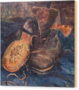 Van Gogh: The Shoes, 1887 Wood Print