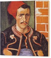 Van Gogh: The Zouave, 1888 Wood Print