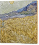 Van Gogh: Wheatfield, 1889 Wood Print
