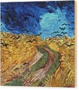 Van Gogh: Wheatfield, 1890 Wood Print