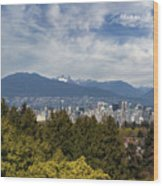 Vancouver Bc Skyline Daytime View Wood Print