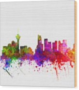 Vancouver British Columbia Skyline Color02 Wood Print