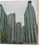 Vancouver City Canada Wood Print