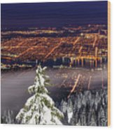 Vancouver City View Wood Print