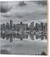 Vancouver Cityscape Wood Print