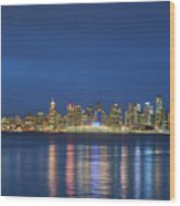 Vancouver Cityscape Wood Print