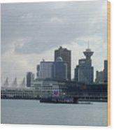 Vancouver Harbour Wood Print