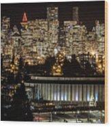 Vancouver Lights Wood Print