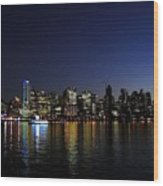 Vancouver Night Lights Wood Print