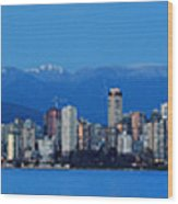 Vancouver Panorama   This Can Be Printed Very Large Wood Print