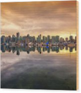 Vancouver Reflections Wood Print