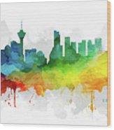 Vancouver Skyline Mmr-cabcva05 Wood Print