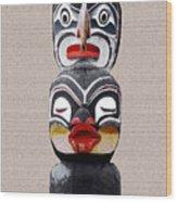 Vancouver Totem - 1 Wood Print