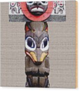 Vancouver Totem - 3 Wood Print by Linda  Parker