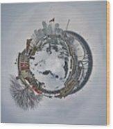 Vancouver Winter Planet Wood Print