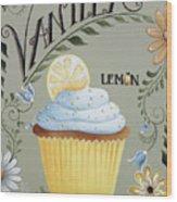 Vanilla Lemon Cupcake Wood Print