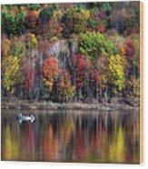 Vanishing Autumn Reflection Landscape Wood Print