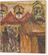 Vanocni Trh Wood Print