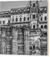 Varanasi Bw Wood Print