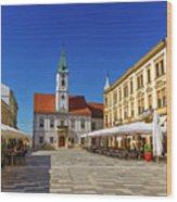 Varazdin Main Square, Croatia Wood Print