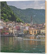 Varenna Italy Old Town Waterfront Wood Print